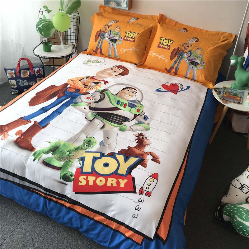 Disney Toy Story Pocieszyciel Pościel Zestaw Pełna Twin Królowa Duży Rozmiar Kapa Na Kołdrę 100 Bawełna Buzz Lightyear Chłopiec Prezent Narzuta Kid Zestawy Pościeli Aliexpress