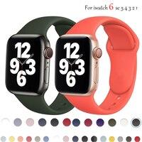 Cinturino in Silicone nero per cinturino Apple Watch 44mm 40mm 38mm 42 mm cinturino in gomma smartwatch bracciale iWatch serie se 6 5 4 cinturino