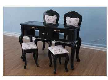 Black manicure table and chair set single double three person glass manicure table economical manicure shop manicure table - DISCOUNT ITEM  27 OFF Furniture