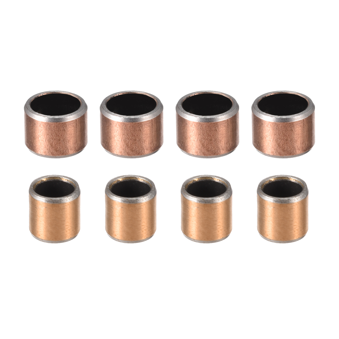 Uxcell 1-10pc Sleeve Plain Bearings 6mm ID 8mm OD Wrapped Oilless Self-lubricating Bushings 6x8x5mm 6x8x6mm 6x8x8mm 6x8x15mm