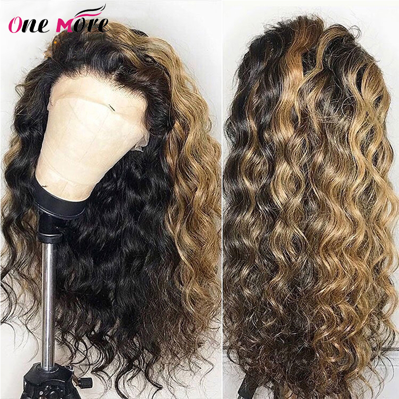 Ombre Highlight Wig Loose Deep Wave Lace Front Human Hair Wigs 150% Density 13x4 Brazilian Remy Ombre Color Human Hair Lace Wigs