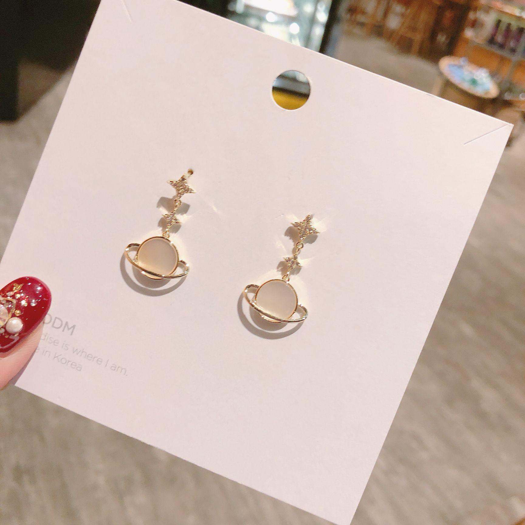 Korean high end globe shell geometry simple fashion earrings cute earrings christmas earrings gothic crystal earrings in Stud Earrings from Jewelry Accessories
