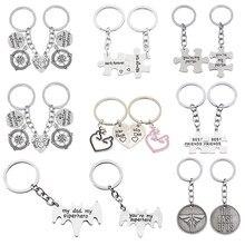 Porte-clés pendentif meilleur ami, personnalité, amitié, étudiant, couture de lettres, en alliage, cadeau de Couple, à la mode