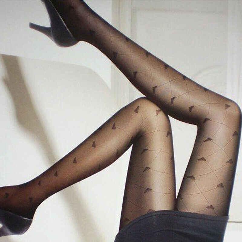 2020 Nieuwe Mode Vrouwen Dunne Kous Lady Sexy Zwart Wit Hart Patroon Elegante Vrouwen Panty Kant Panty