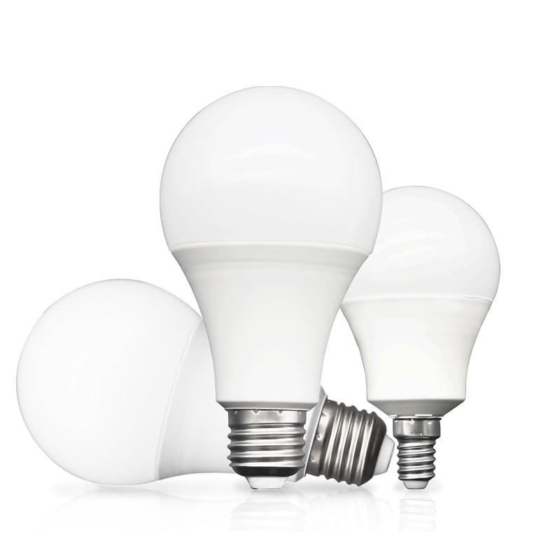 Lâmpadas led e27 e14 3 w 6 9 12 15 18 20 led lampada quente frio branco luz ac 220 v 230 v 240 v bombilla spotlight