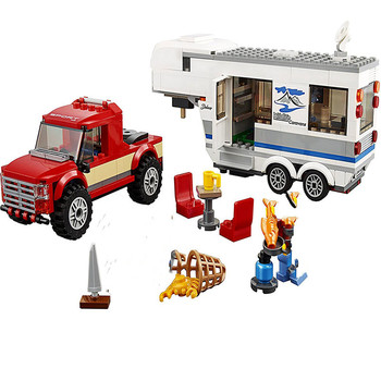 344pcs Caravan Building Blocks Brick Compatible City 60182 Toys for Children Christmas Gift With Lepininglys