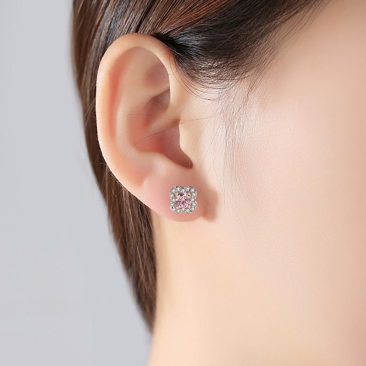 PAG & MAG AAA zircon fleur S925 pur argent oreille clou exquis mode dame boucle d'oreille bijoux en argent - 2