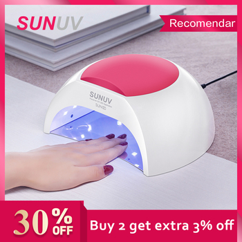 SUNUV SUN2C 48W Nail Lamp UV SUN2 Dryer for UVLED Gel Infrared Sensor with  Rose Silicone Pad Salon Use - discount item  16% OFF Nail Art & Tools