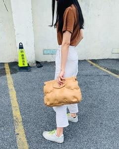 Image 5 - High Quality Down Space Pillow Pu Leather Crossbody Messenger Bag Shoulder Bag Purses and Handbag for Women Clutch Bag Envelope
