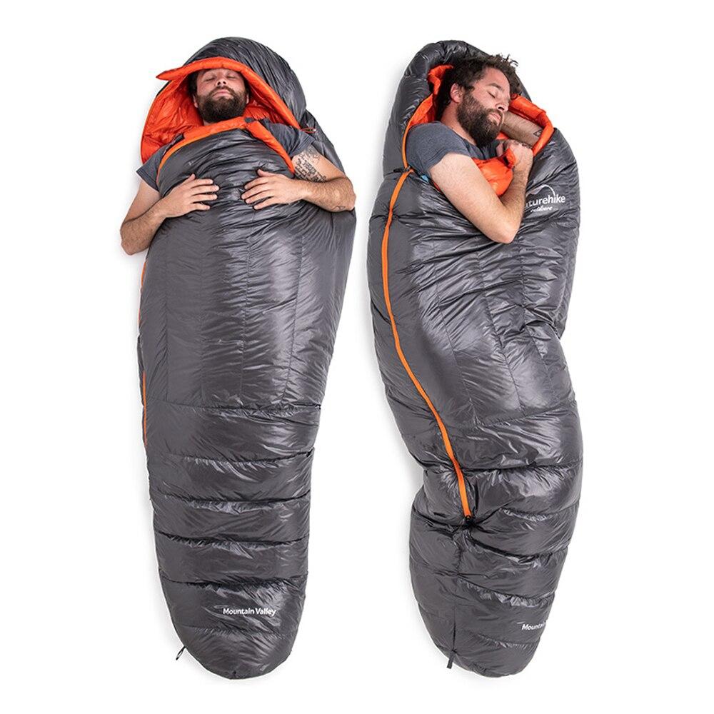 Naked male in sleeping bag