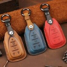 Leder Schlüssel Fall Remote Abdeckung für Chevrolet Chevy Scirocco Orlando Trax Segel Epica Captiva Malibu Kette Halter Auto Zubehör