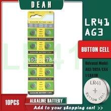 DEAH 10 sztuk 1.55V AG3 LR41 alkaliczna bateria moneta SR41 392 192 AG 3 L736 384 SR41SW CX41 baterie guzikowe do zegarków zabawki LED