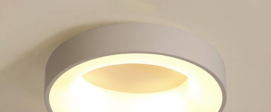 H74b14c1cb4024ec1affdf420bada016et Round Modern Led Ceiling Lights For Living Room Bedroom Study Room Dimmable+RC Ceiling Lamp Fixtures