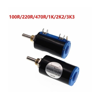 1PCS WXD3-13-2W 10K ohm WXD3-13 2W Wirewound Potentiometer Rotary side Rotary Multiturn NEW Hot sale(China)