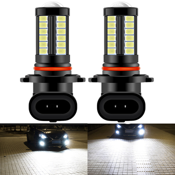 2X H8 H11 H16 JP H10 HB4 HB3 9006 9005 Led Bulb Fog Lights 1500LM 6500K White 3000K Yellow Blue Day Running Car Lamp Auto 12v image
