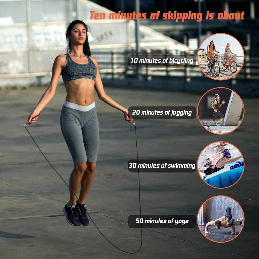 スキップトレーニングロープ速度ジャンプロープボールベアリング迅速なメタルハンドルケーブル耐久ワークアウトボクシング格闘技武道