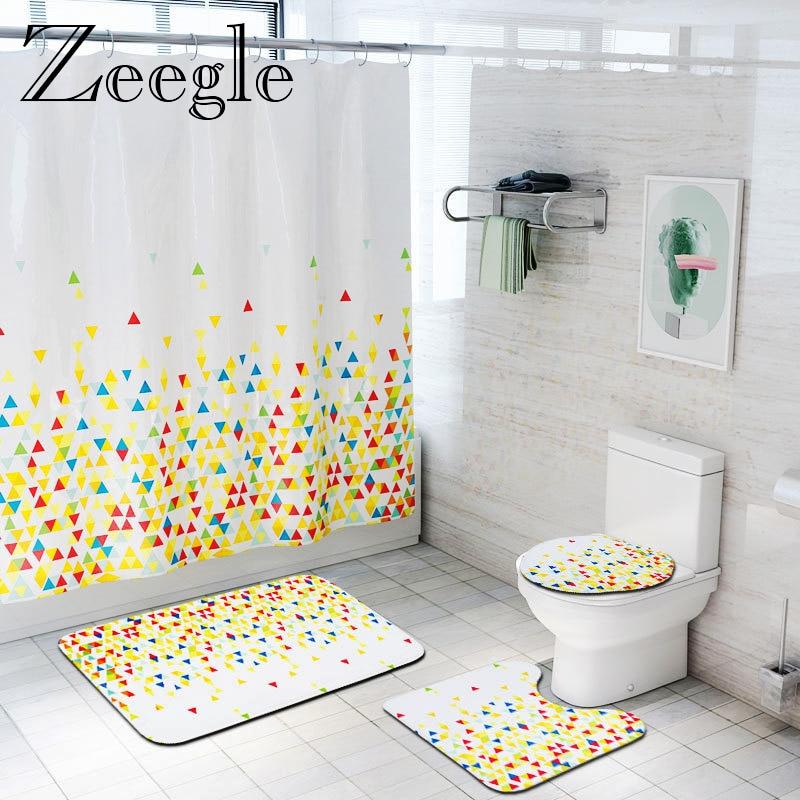 zeegle bathroom curtain bath mat set