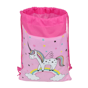 Backpack Drawstring Bag Double Rope Unicorn Cartoon Waterproof Drawstring Bag Backpack Backpack for Young Women Storage Bag