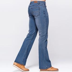 Image 4 - Мужские облегающие джинсы GRG, классические Стрейчевые небесно голубые джинсы с потертостями, повседневные Стрейчевые джинсы