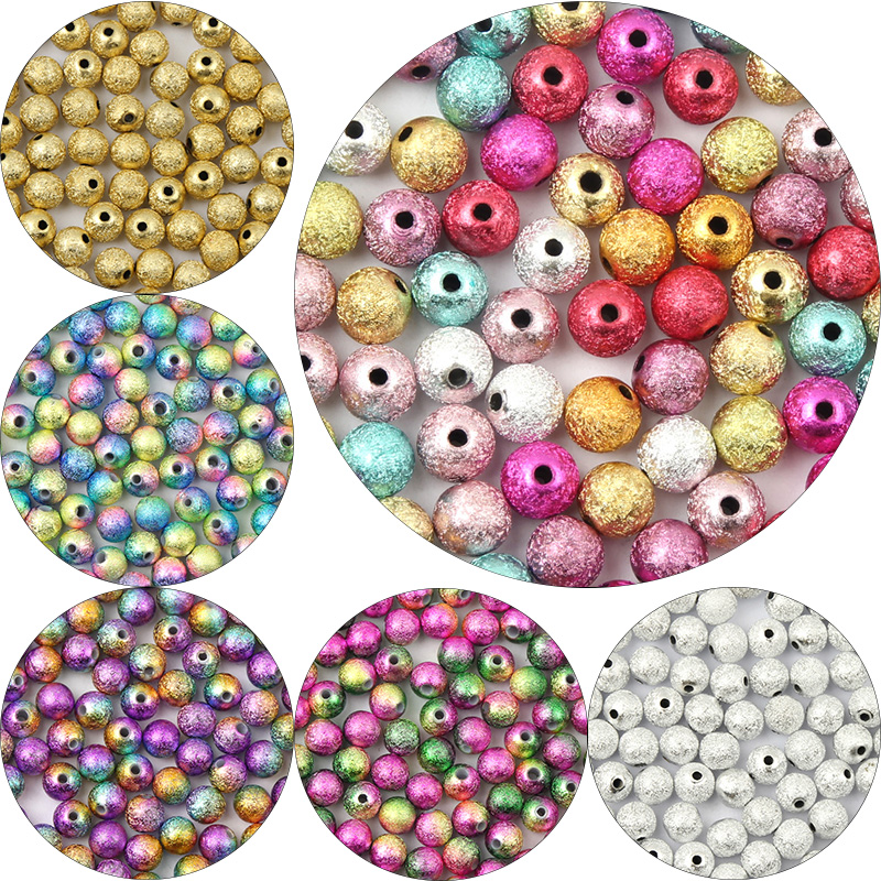 100 Golden Tone Metallic Acrylic Smooth Round Seed Beads 12mm Spacer Beads