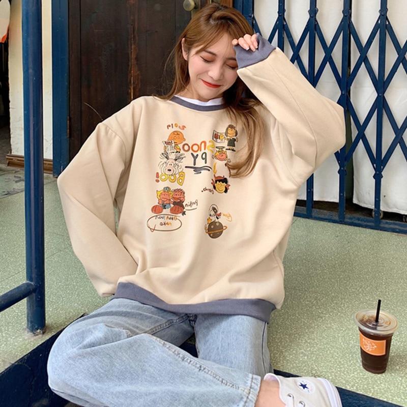 Hoodies Women Korean Style Harajuku Hoodie Ropa Mujer Oversized Long Sleeve Sweatshirt Plus Size Kawaii Top Winter 2020 Clothing