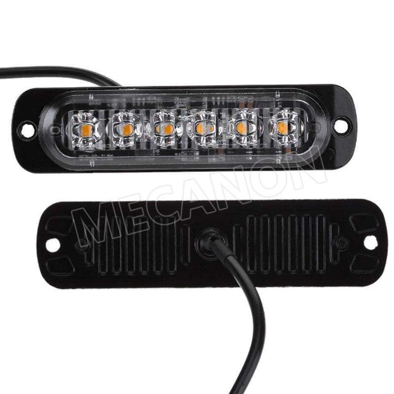 new 6led flash warning light motorcycle truck strobe lamp 12-24v -2-