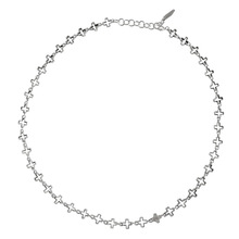 Cross Chain  Necklaces 925 Sterling Silver Necklace For Women Simple Korean Choker Accessories Bijoux Femme Fine Jewery Gift