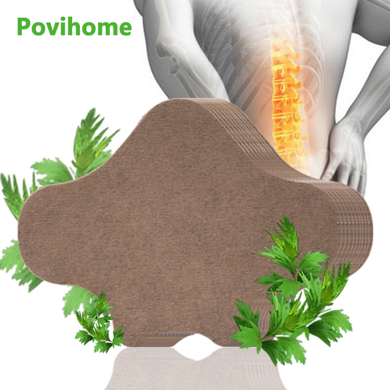 12pcs Back Pain Patch Lumbar Spondylosis Medical Plaster Self-heating Arthritis Moxibustion Stickers Wormwood Pain Relief C1703