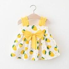 New Stylish Baby Girls Toddler Strawberry Print Clothes Summer Baby Bow Princess Dress Wedding Dress Vestidos Infant Dresses stylish floral big bow girls dress