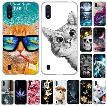 Перейти на Алиэкспресс и купить Чехол для Samsung Galaxy A01, 2020, модный, окрашенный, силиконовый, мягкий, ТПУ, задняя крышка, чехол для Samsung A01 A 01, чехлы для телефонов, 5,7 дюймов