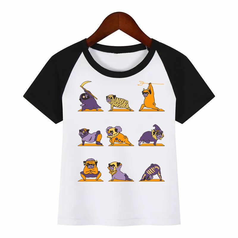 Enfants Bande Dessinée O-cou T-Shirt CARLIN Chien T-shirts D'été hauts Enfants Fille T-Shirt Garçon/Filles Vêtements