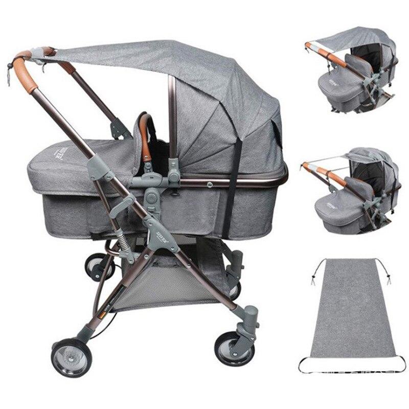 Baby Stroller Accessories Windproof Waterproof UV Protection Kids Prams Car Sunshade Cover Outdoor Activities