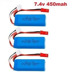 7.4V 450/500/520mAh 20C Lipo Battery 2s for mini-q K969 K989 K999 P929 P939 A202 A212 A222 A232 A242 A252 XK A600 RC car