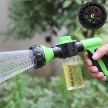 High Pressure Washing Tool 8 in 1 Jet Spray Gun Soap Dispenser Watering Hose Nozzle Car with Liquid Box