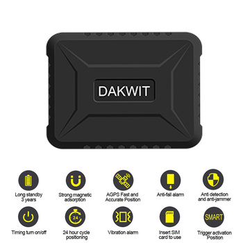 GPS Tracker Real-time Tracking Device 3 Year Standby 6600mah Battery GPS Locator Geo-fence Alarm Activate Position Free Web APP