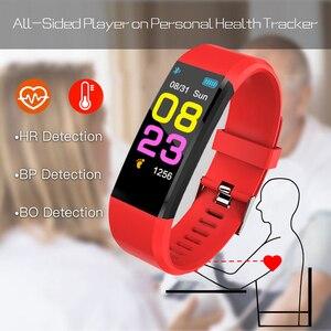 Image 5 - 115 mais inteligente pulseira de pressão arterial, relógio fitness rastreador freqüência cardíaca banda inteligente atividade rastreador pulseira