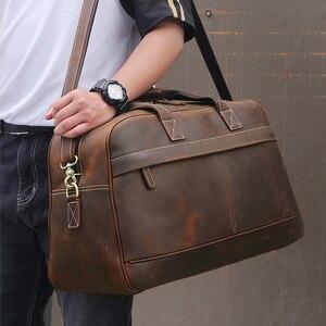 Image 2 - MAHEU עור Weekender תיק לגבר בציר פרה עור נסיעות מזוודות תיק עור crossbody כתף תיק נסיעה תיק
