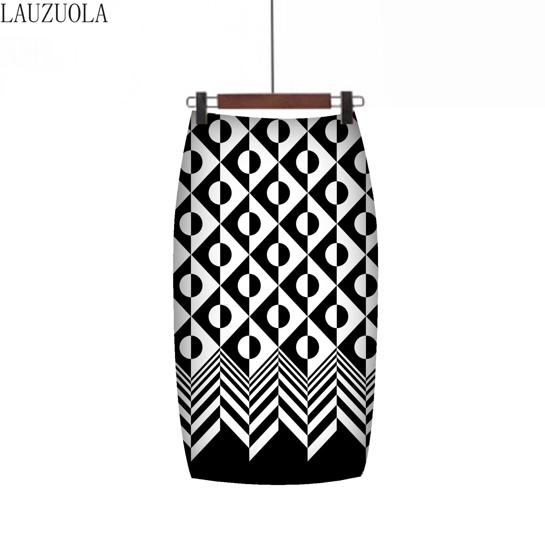 LAUZUOLA 2020 Fashion Women Summer Pencil Skirts High Waisted Floral Print Ladies Bodycon Skirt Knee-Length Saias Girls Faldas