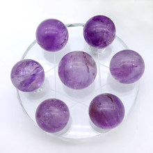 Natural Amethyst Ball Seven Star Array Quartz Crystal Ball,Wicca,Reiki Meditation Chakra Healing Crystal Stone Home Decoration(China)