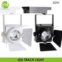 85 V-265 V 110V 220V Высокая яркость сов 30W Трековый прожектор узконаправленного света 4 листа Трековый светильник в стиле ретро для творческой личности коммерческое освещение