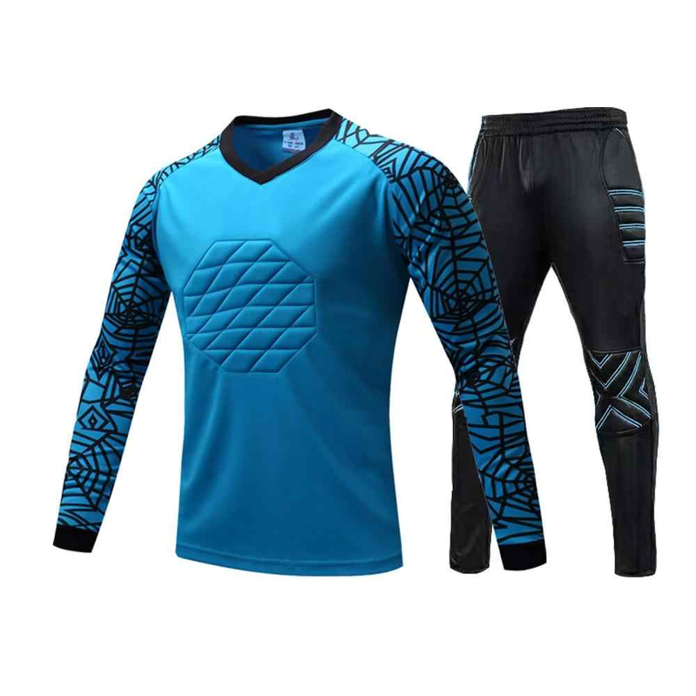 New Profession Goalkeeper Jersey Soccer uniforms Football keeper Jersey Sponge Protector Doorkeeper Training Goalkeeper Shirt