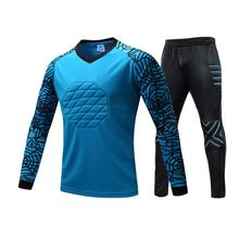 New Profession Goalkeeper Jersey Soccer uniforms Football keeper Sponge Protector Doorkeeper Training Shirt