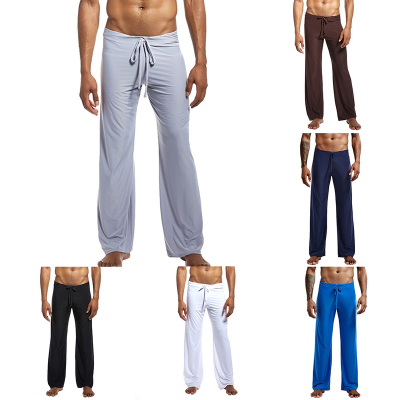 Autumn Fashion Men's Ice Silk Home Pajama Pants 1
