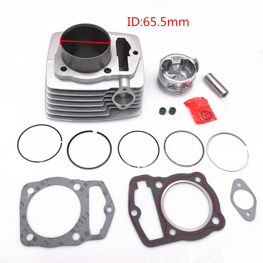 Cylinder Piston pin rings and gaskets Kit for 223CM3 250cc Honda ATC 200 XL200