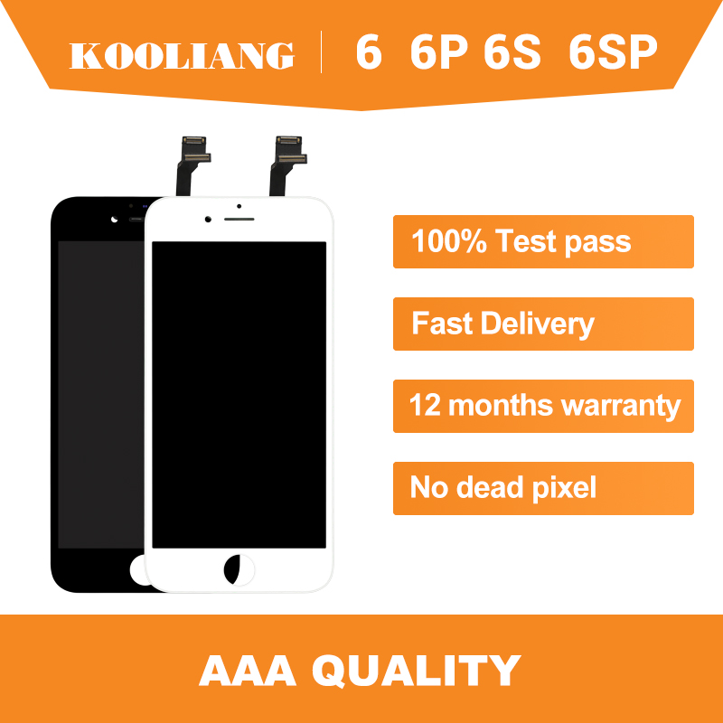 DHL 10PCS AAA Replacement Part ekran For iPhone 6 6G 6PLUS 6S 6SPLUS LCD Display+Digitizer Touch Screen+Bezel Frame image