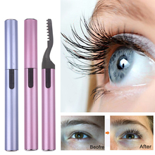 Electric Perm Heated Eyelash Curler Long Lasting Portable Pen Style Ironing Eyelashes Curling Curler