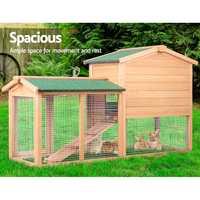 138cm de Large lapin clapier poulailler Cage cobaye Ferret maison W/2 étages courir grand extérieur ménage Cage animaux maison AU