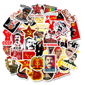 50 PCS Pack Waterproof PVC Soviet Union Stalin USSR CCCP Stickers Skateboard Phone Motorcycle Luggage Laptop Guitar Stickers