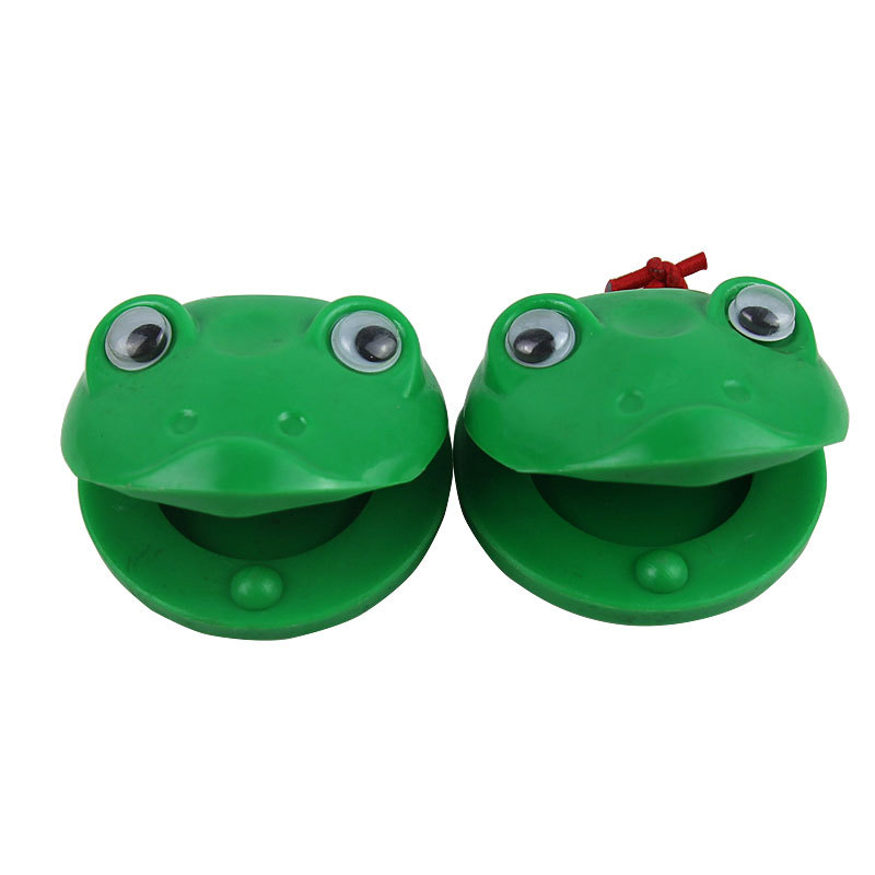 Boutique Orff Instruments Plastic Castanets Green Frog Castanets CHILDREN'S Musical Instrument Beat Toy