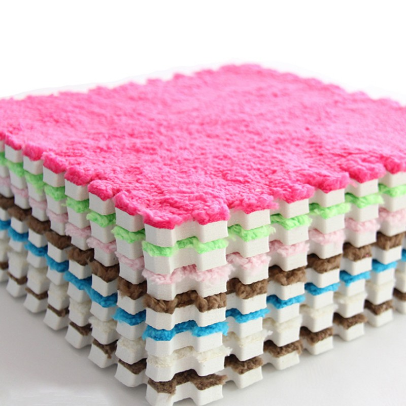 Splicing-Carpets Rug Area Bath-Room Pink Plush Soft Shaggy for Anti-Skid 30--30cm
